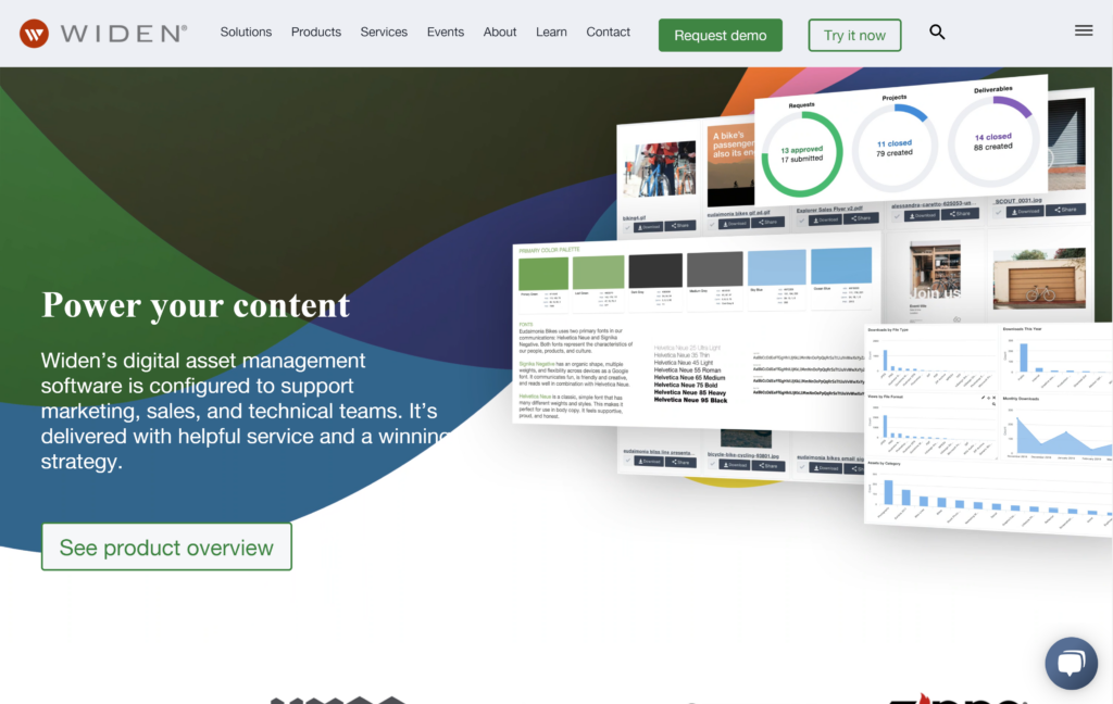 Widen homepage