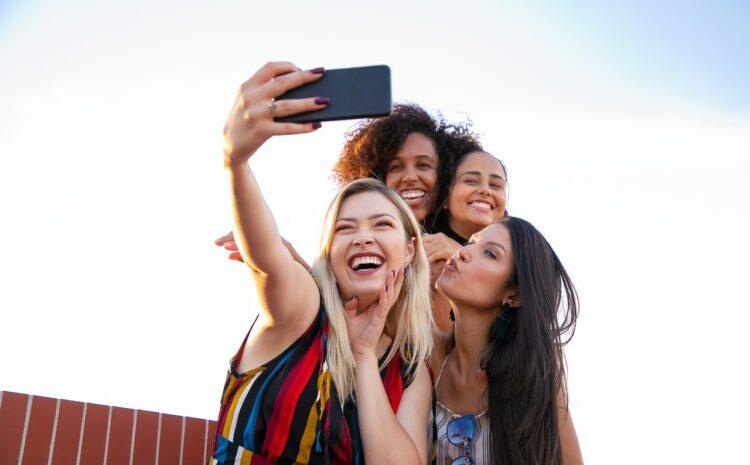 Group of women taking a selfie